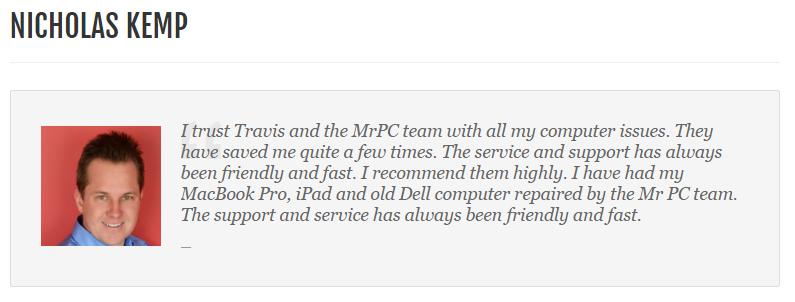 Computer Repair Review By Nicholas Kemp